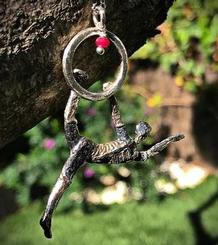 Circus Pendant, Acrobat with a Hoop