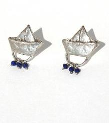 Small Paper Boat Earrings
