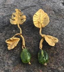 Leaves and Peridot Earrings