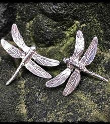 Dragonflies Button Earrings