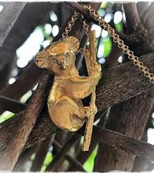 Koala Pendant gold plated and diamonds