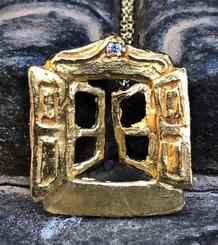 Small Window pendant gold plated
