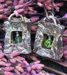 Paper Bag Earrings