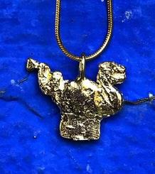 Sitges' Dragon medium-size Pendant gold plated