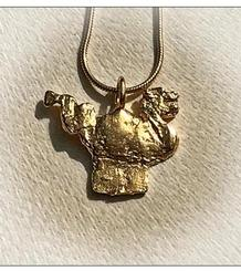 Sitges' Dragon small size Pendant gold plated