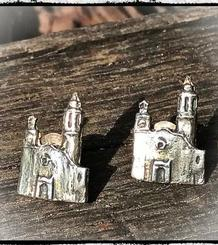 La Punta Button Earrings
