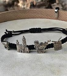 Drac, Drum, La Punta and Carretilla Macramé Bracelet