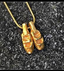 Ballet Slippers Pendant gold plated