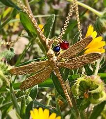Dragonfly Pendant gold plated