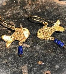 Fishes Earrings gold plated