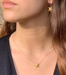 Gold plated Starfish Pendant