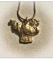 Sitges' Dragon small Pendant gold plated